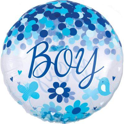 Μπαλόνι γέννησης Baby Boy Confetti ORBZ 71 εκ