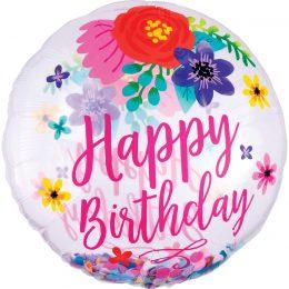 Μπαλόνι Happy Birthday Floral ORBZ 71 εκ