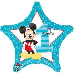 Μπαλόνι αστέρι Mickey Mouse 1st Bday 43 εκ