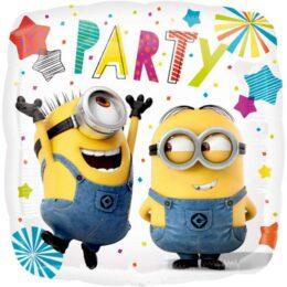 Μπαλόνι τετράγωνο Minions Party 45 εκ