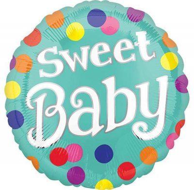 Μπαλόνι Sweet Baby πουά 45 εκ