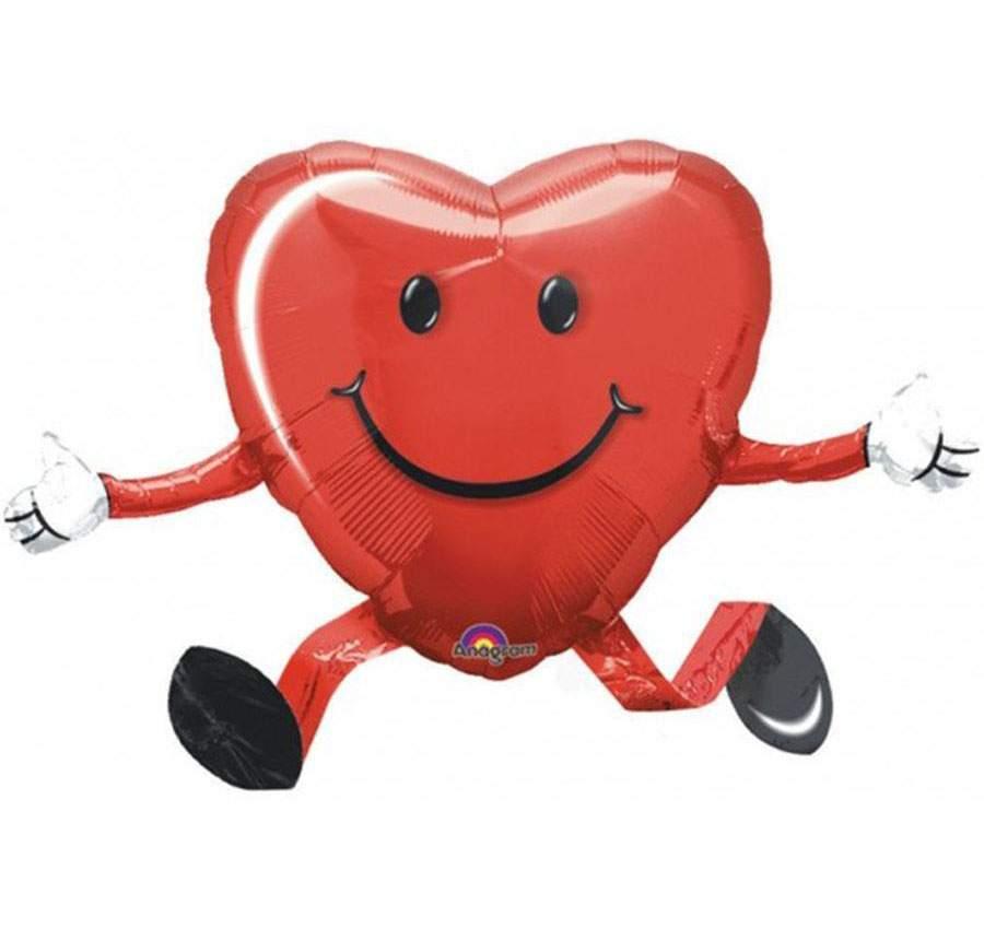 Μπαλόνι αγάπης Airwalker χαμογελαστή Καρδιά 66 εκ