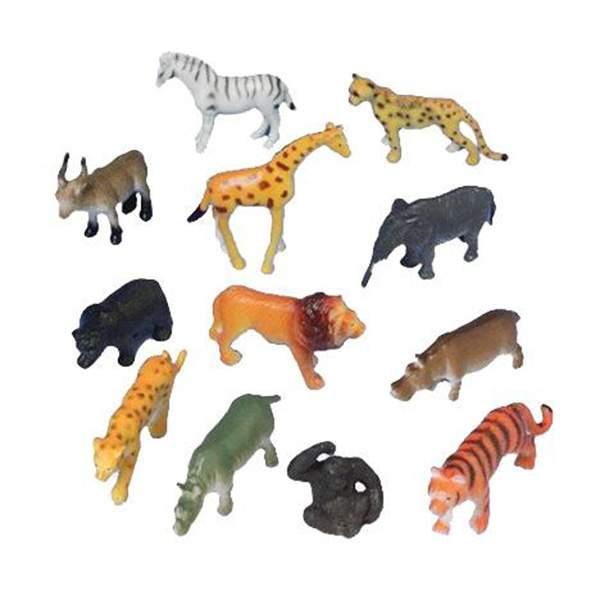 Σετ παιχνιδιών Ζωάκια της Ζούγκλας (12 Τεμ) ζωακια ζουγκλας μινιατουρες