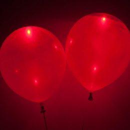 Κόκκινο Μπαλόνι με φωτάκι LED (2 τεμ) φωτεινά μπαλόνια