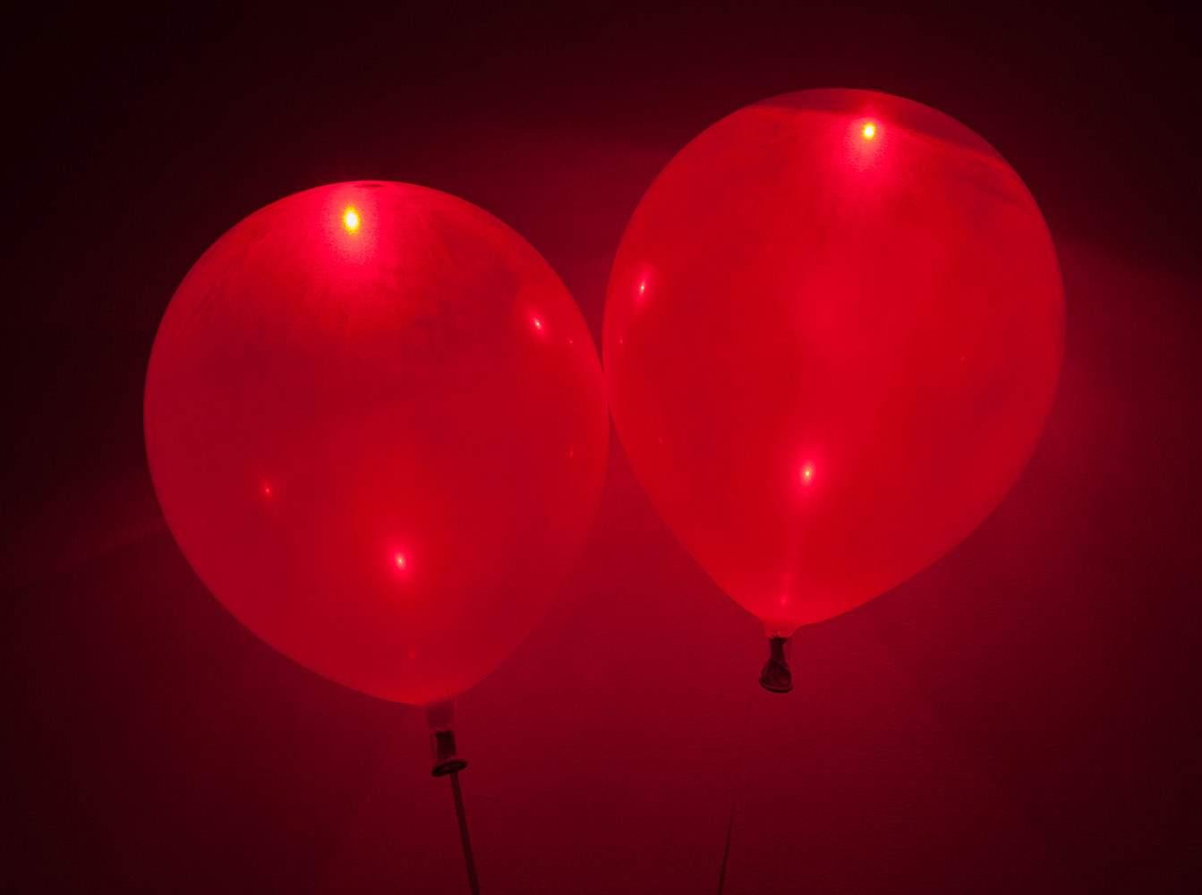 Κόκκινο Μπαλόνι με φωτάκι LED (5 τεμ) φωτεινά μπαλόνια