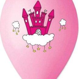 12″ Μπαλόνι τυπωμένο Κάστρο Πριγκίπισσας