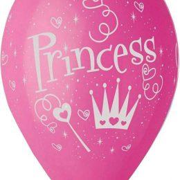 12″ Μπαλόνι τυπωμένο Princess φούξια