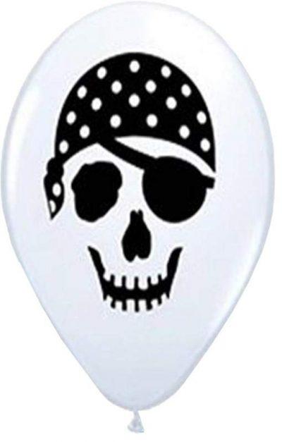 """12"""" Μπαλόνι τυπωμένο Νεκροκεφαλή πειρατή"""