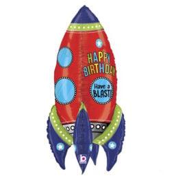 Μπαλόνι Πύραυλος 3D Happy Birthday