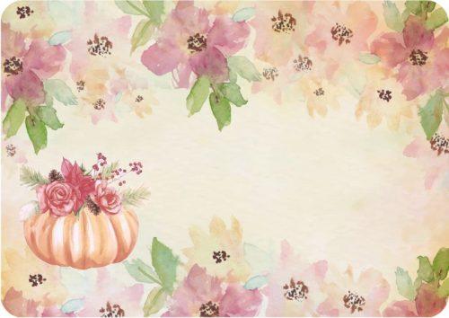 Σουπλά τραπεζιού Κολοκύθα & Λουλούδια