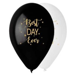 """12"""" Μπαλόνι τυπωμένο Best Day Ever"""