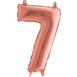 Μπαλόνι 36 εκ Rose Gold Αριθμός 7