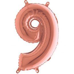 Μπαλόνι 36 εκ Rose Gold Αριθμός 9