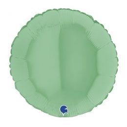 Μπαλόνι πράσινο ματ στρογγυλό 18″