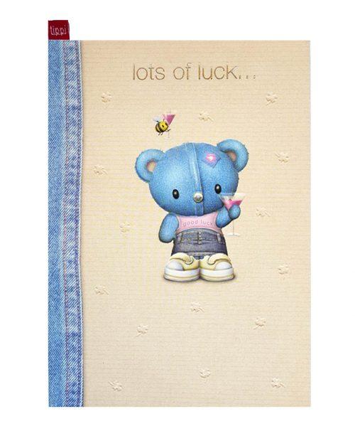 Ευχετήρια Κάρτα Lots of Luck Αρκουδάκι