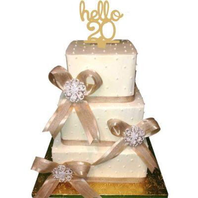 Topper τούρτας Hello 20 χρυσό