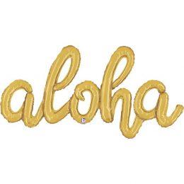 Μπαλόνι Aloha χρυσό 101 εκ