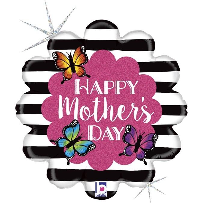 Μπαλόνι Λαμπερό Λουλούδι Mother's Day 45 εκ