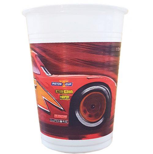 Ποτήρια πλαστικά Cars Disney (8 τεμ)