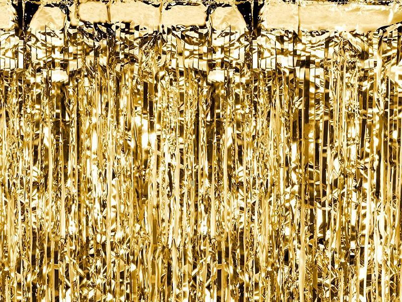 Μεταλλική Χρυσή Κουρτίνα Διακόσμησης