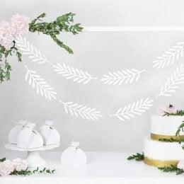Διακοσμητική γιρλάντα με λευκά κλαδιά (20 τεμ)