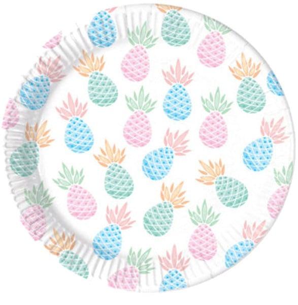 Πιάτα πάρτυ Pineapples (8 τεμ)