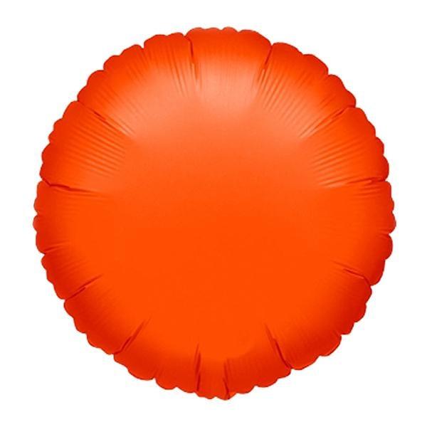 Μπαλόνι neon πορτοκαλί στρογγυλό 18″