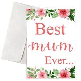 Κάρτα γιορτή μητέρας Best Mum Ever