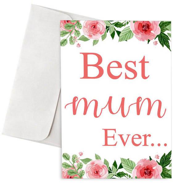 Κάρτα για την γιορτή της μητέρας Best Mum Ever