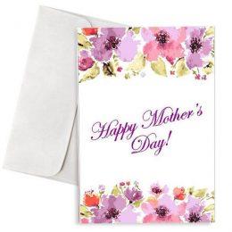 Κάρτα γιορτή της μητέρας γλυκές ευχές