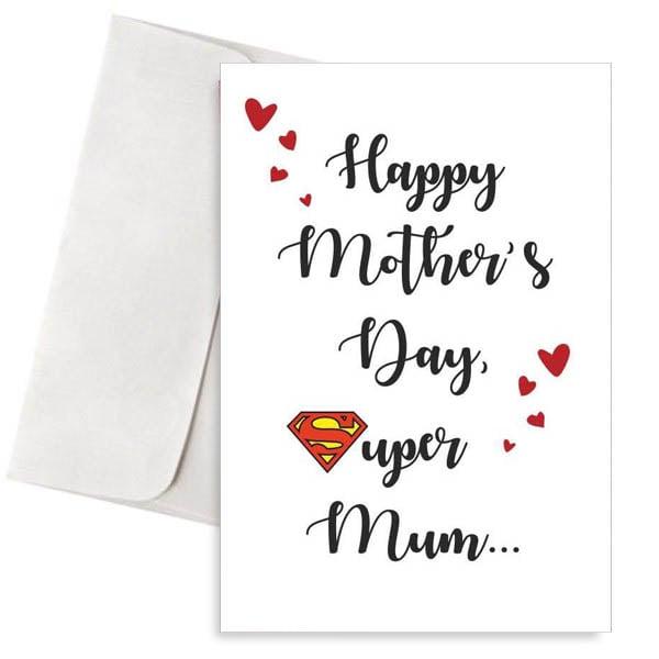 Κάρτα γιορτή της μητέρας Super Mum