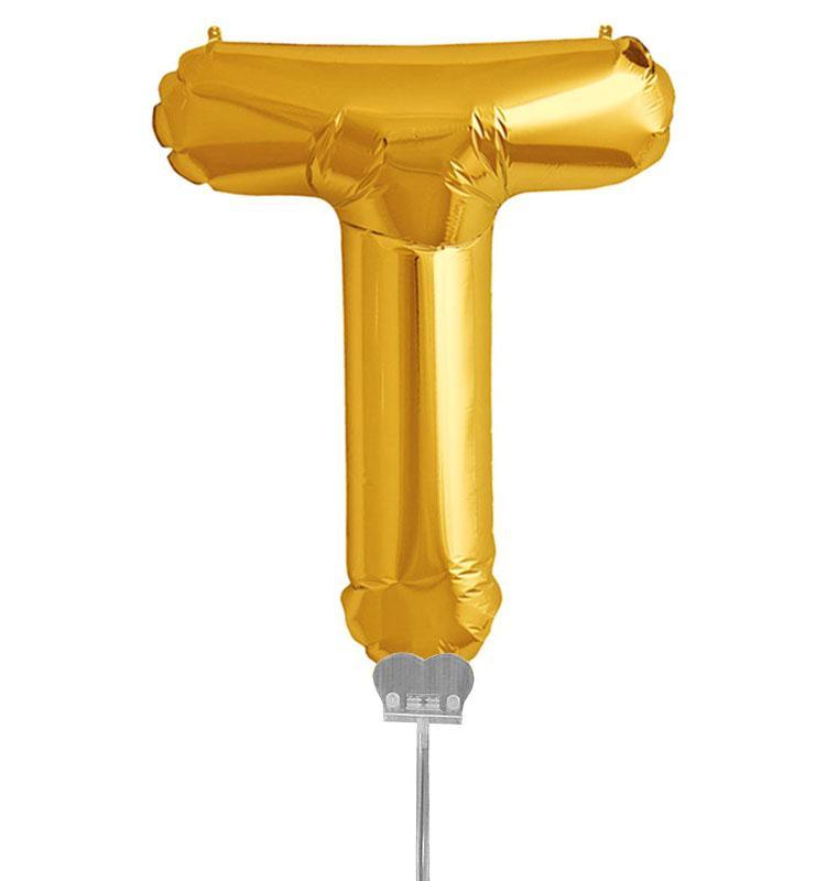 Μπαλονι 40 εκ Χρυσό Γράμμα T