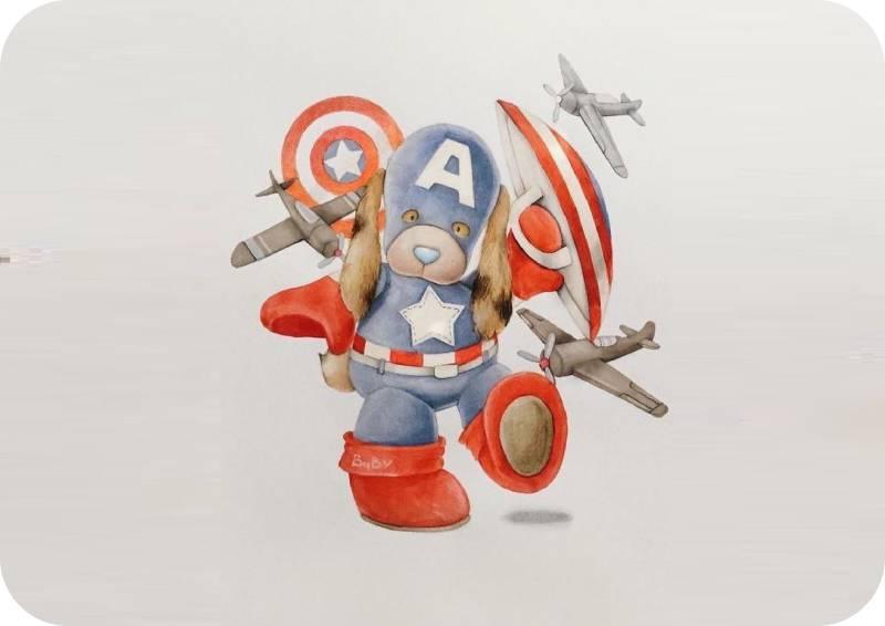 Σουπλά τραπεζιού baby Captain America