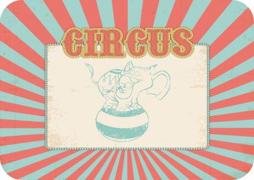 Σουπλά τραπεζιού Circus ελεφαντάκι