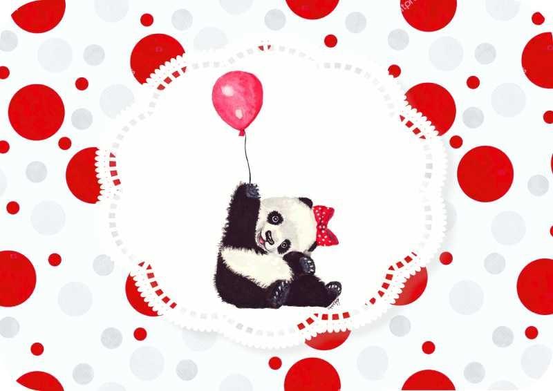Σουπλά τραπεζιού Panda με μπαλονάκι