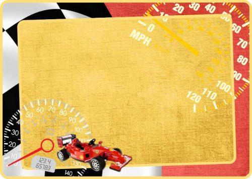 Σουπλά τραπεζιού Race Car