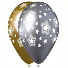 """12"""" Μπαλόνι τυπωμένο κοσμικά αστέρια"""