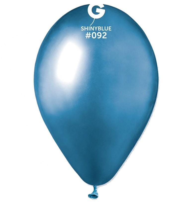 "12"" shiny μπλε latex μπαλόνι"