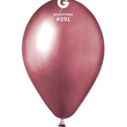 "12"" shiny ροζ latex μπαλόνι"
