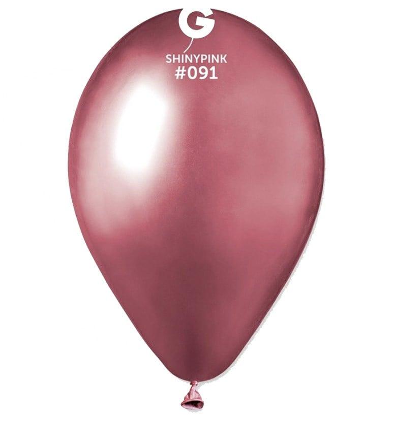 12″ Shiny Ροζ λάτεξ μπαλόνι