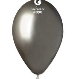 "12"" shiny space gray latex μπαλόνι"