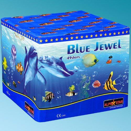 Πυροτεχνήματα 49 βολών Blue Jewel