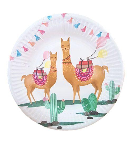 Πιάτα πάρτυ μικρά Λάμα & Κάκτοι (8 τεμ)