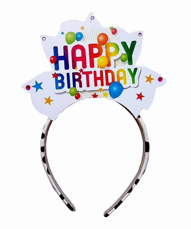 """Χειροποίητη Στέκα μαλλιών """"Happy Birthday"""" (σχέδιο 1)"""