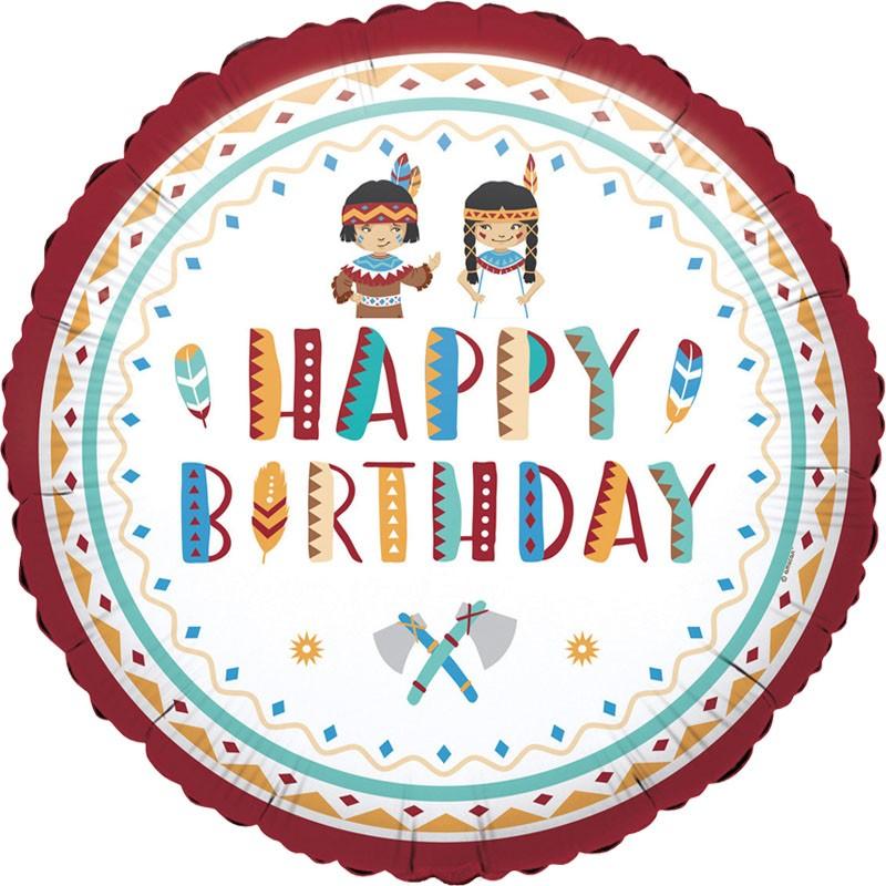 Μπαλόνι για γενέθλια Ινδιάνοι Happy Birthday