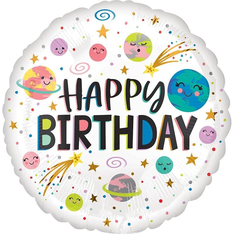 Μπαλόνι Πλανήτες Happy Birthday 45 εκ