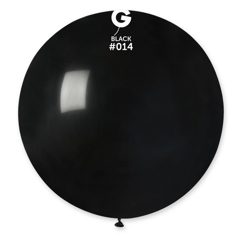 "80cm - 31"" Μαύρο μεγάλο μπαλόνι"
