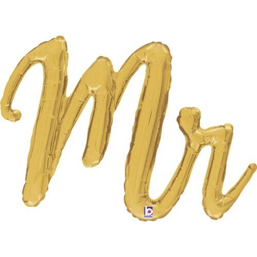 Μπαλόνι 99 εκ χρυσό Mr