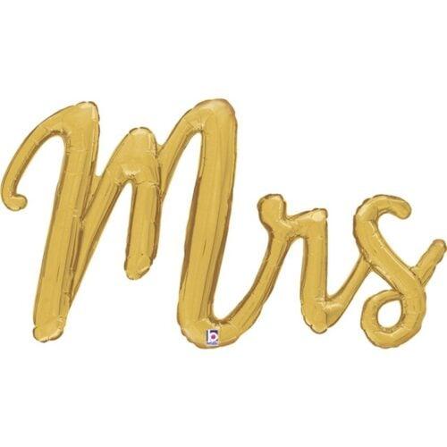 Μπαλόνι 99 εκ χρυσό Mrs