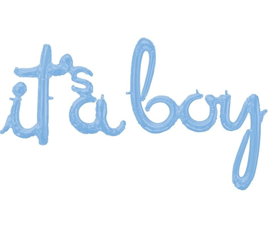 Μπαλόνι παστέλ μπλε 'Its a boy' (2 τεμ)